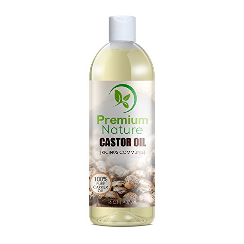 Castor Oil Best Carrier Oil - 16 oz Best Moisturizer for Skin & Hair - Eyelashes & Hair Growth Conditions Hair Heals Inflamed Skin Nourishes & Moisturizes - Fades Blemishes Premium Nature (Castor Massage Oil)