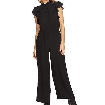 1.State Womens Flutter Sleeve Mock Neck Jumpsuit: Clothing