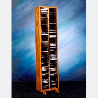 12.75 in. CD Storage Tower w Individual Locking Slots (Honey ()