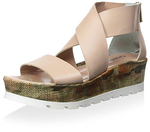 Chaniotakis Kvinners Plattform Sandal Naken