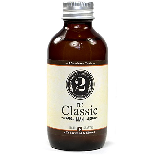 The Classic Aftershave Tonic - Cedarwood and Clove - Essential Oil Scented Aftershave Tonic by The 2 Bits Man (3 oz.)