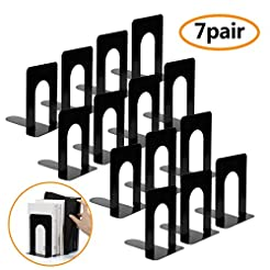 Bookend Supports, Heavy Duty Metal Black...