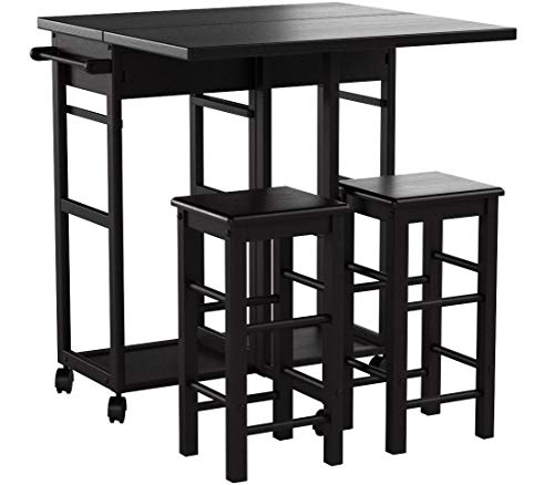 Winsome Wood 23330 Suzanne 3-PC Set Space Saver Kitchen, Smoke by Winsome Wood (Image #12)
