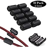 Noise Filter Cable Ring, VSKEY [10pcs 3.5mm] Anti-Interference Noise Filters Ferrite Core Choke Clip for Telephones,Tvs…