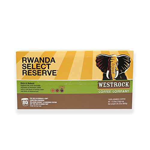 Westrock Coffee Company Rwanda Select Reserve Best Dark Roast Gourmet Single Serve Cups  80 Count