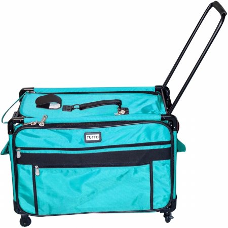 Wheel Turquoise (Tutto Monster Machine on Wheels Sewing Machine Case, 2XL Turquoise)