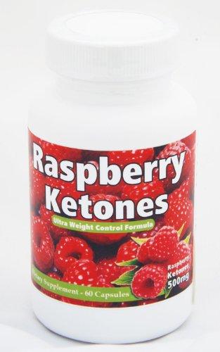 Framboise cétones 500mg - 60 Capsules - La plus haute qualité Natural Weight Loss Supplement - Keytones framboise