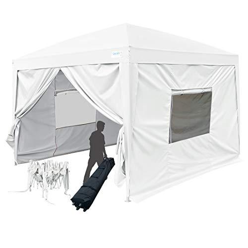 Quictent Privacy 8x8 EZ Pop Up Canopy Tent Instant Folding C