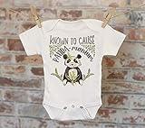 Known To Cause Panda-Monium Tribal Style Onesie®, Cute Onesie, Funny Onesie, Animal Onesie, Cute Baby Bodysuit, Boho Baby Onesie