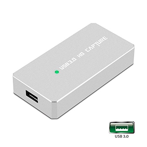 Y&H HDMI Game Capture Card USB 3.0 HD 1080P Video Capture with OBS for Live Video Streaming for PS3 PS4 Xbox One 360 Wii U,Compatible with Windows Linux Os X System【Metal Shell】 by Y&H