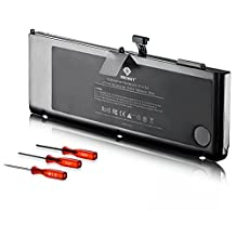 Egoway® New Laptop Battery for Apple A1321 A1286 (only for 2009 2010 Version) Unibody MacBook Pro 15'', fits MC118 MB985 MB986 MC371 MC372 MC373 + Two Free Screwdrivers [Li-Polymer 6-cell 7000mAh/76.7Wh]