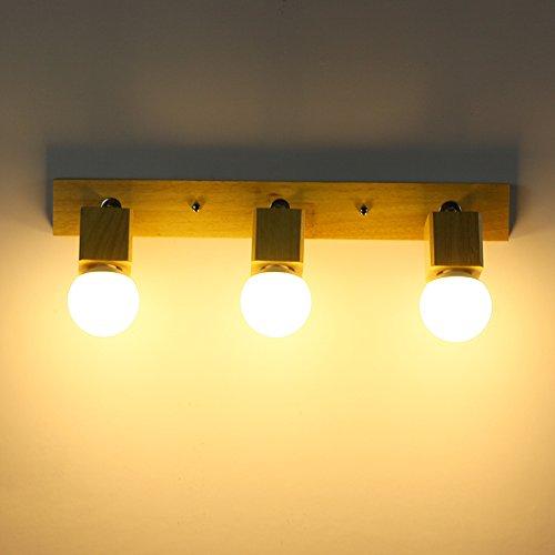Spiegellampen, Kreative Holz Gemütliche Japanese Style Wohnzimmer Spiegel  Leuchten Wandleuchte Nachttischlampe Schlafzimmer Badezimmer Holz