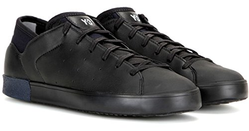 adidas Y-3 by Yohji Yamamoto Y-3 Women's Smooth Court Sneakers, Black, 8.5 M US