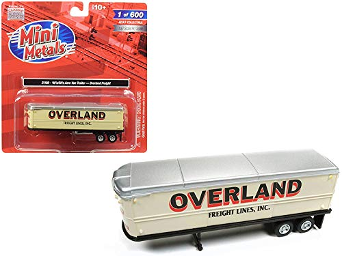 1940's-1950's Aerovan Trailer Overland Freight Lines, Inc. 1/87 (HO) Scale Model by Classic Metal Works 31180