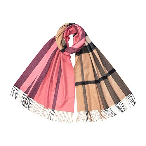 Burberry Colour Block Cashmere Scarf- Rose Pink
