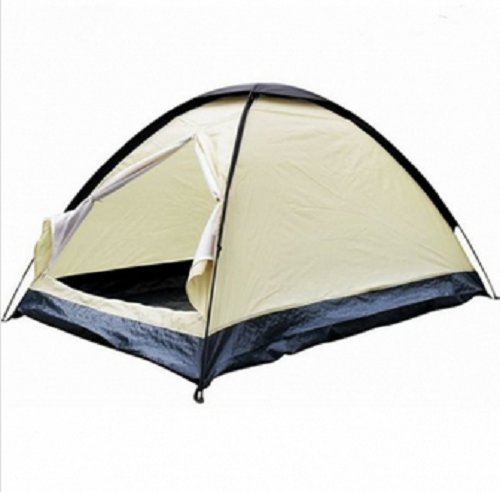 2 Person Berth Dome Waterproof Lightweight Camping Tent / Tent Hiking Camp Backpacks Men 2 Person Backpacking Two Dome Waterproof Lightweight Berth Travel Outdoor Polyester Creamy White Ventilation Convenient Skylight Breathable Carriage Hook Gauze Durable Mosquito Cold Resistant Insects Ultraviolet Easily to Clean Fastening Nail