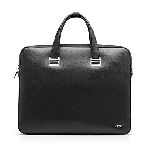 BVP High-end Men's Real Leather Urban Briefcase Attache Laptop Handbag Briefcase