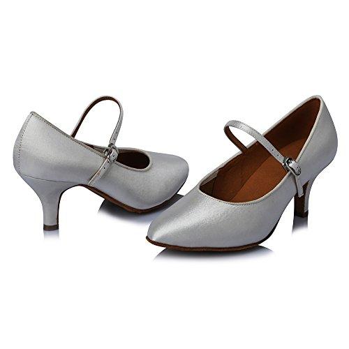 Standard Dance 306 Silber DE Schuhe Latin Satin Modern Tanzschuhe Modell Ballsaal Modern Damen SWDZM wXqCtt