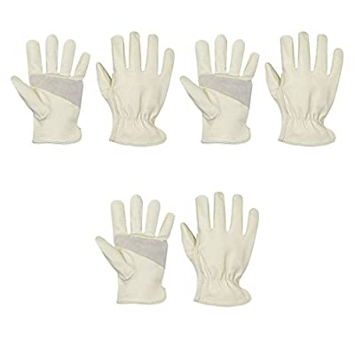 3 Pack Apollo Top Grain Pigskin Leather Driver's/Work Glove with Keystone Thumb Sizes S-XL