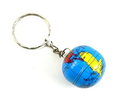 Amazon metal mini map world globe keyrings key ring chain my metal mini map world globe keyrings key ring chain my 1530 gumiabroncs