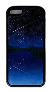 TYH - iPhone 5C Case Shooting Star Sky661 TPU iPhone 5C Case Cover Black ending phone case
