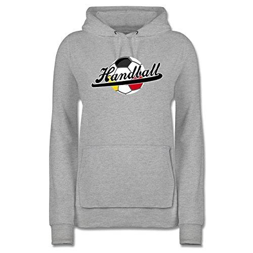 Meliert Grau Handball Hoodie Shirtracer - Damen Deutschland