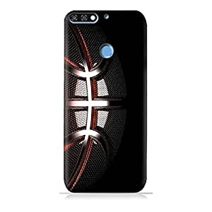 AMC Design Huawei Honor 7A TPU Silicone Protective Case with Basketball Texture Pattern