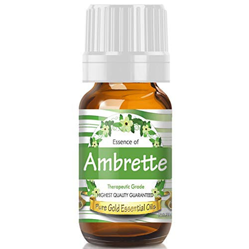 Ambrette Essential Oil (Premium Grade Essential Oil) 10ml - Best Therapeutic Grade - Perfect for Your Aromatherapy Diffuser, Relaxation, More!