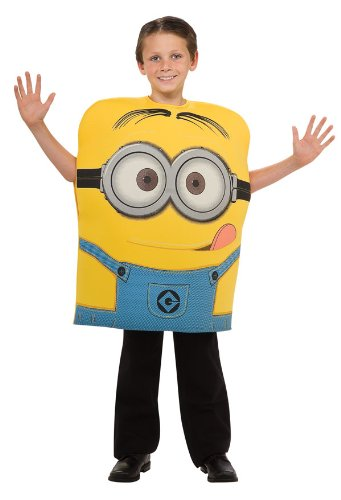 Best Halloween Costumes Minion (Despicable Me Child's Costume, Minion Dave Costume, Medium(US Size 8 to 10))
