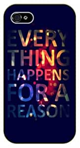 "iPhone 6 (4.7"") Everything doesn't happen at once - black plastic case / Einstein, Inspirational and motivational life quotes / SURELOCK AUTHENTIC"
