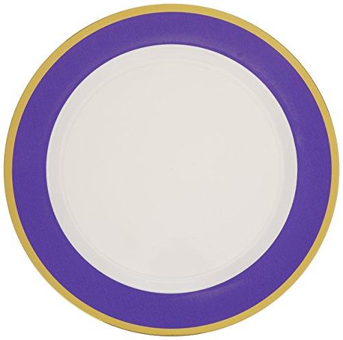 Amscan Premium 6 Packs Per Case Plastic Round Plates Border (Count ...