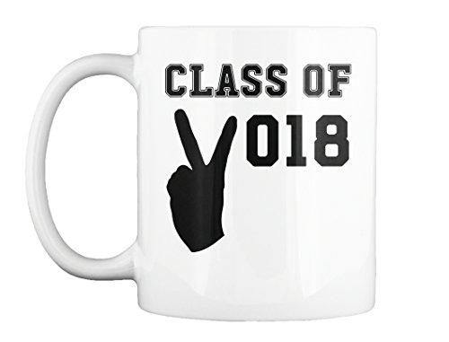 Mug - Class Of 2018 Peace Sign - School Graduation (11oz) ()