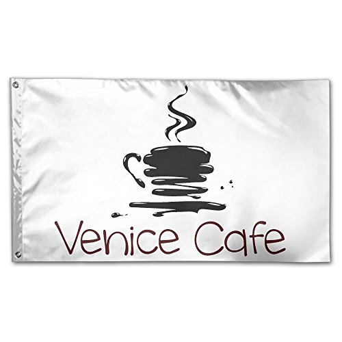 Colby Keats Venice Cafe Garden Lawn Flags Indoor Outdoor Decoration Home Banner Polyester Sports Fan Flags 3 X 5 Foot
