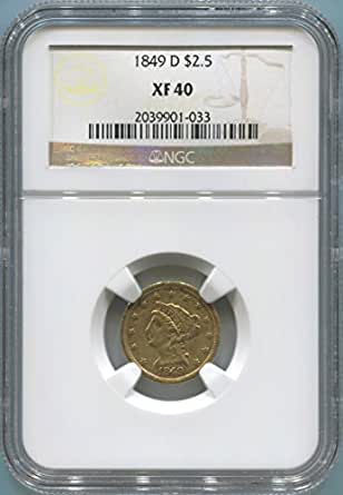1849 D $2.50, Gold (Pre-1933) XF40 NGC