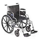 Invacare LightWeight Tracer EX2 Wheelchair 18'' with Swingaway Footrest-Blue (Folding, Assembled)