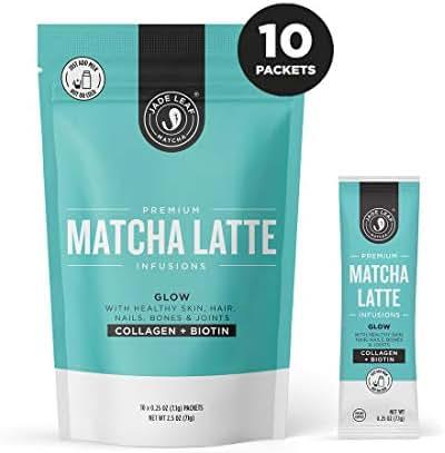 Jade Leaf Matcha Latte Infusions - Glow - Collagen + Biotin - 10ct Single Serves