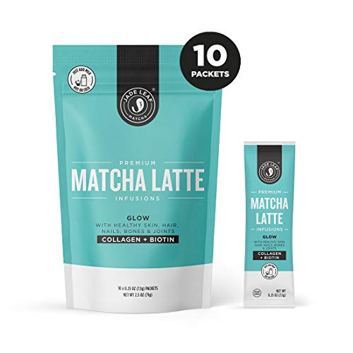 Jade Leaf Matcha Latte Infusions - GLOW - Collagen + Biotin - 10ct Single Serves