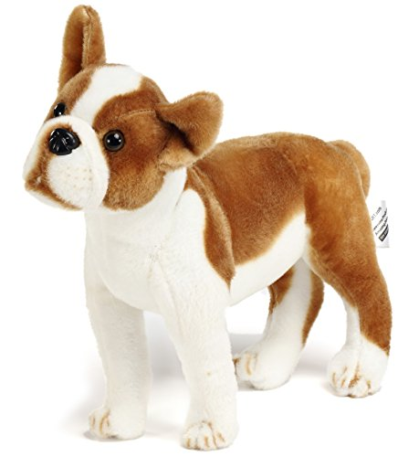 (VIAHART Bobby The Boston Terrier Boxer | 15.5 Inch Large Dog Stuffed Animal Plush | by Tiger Tale Toys)
