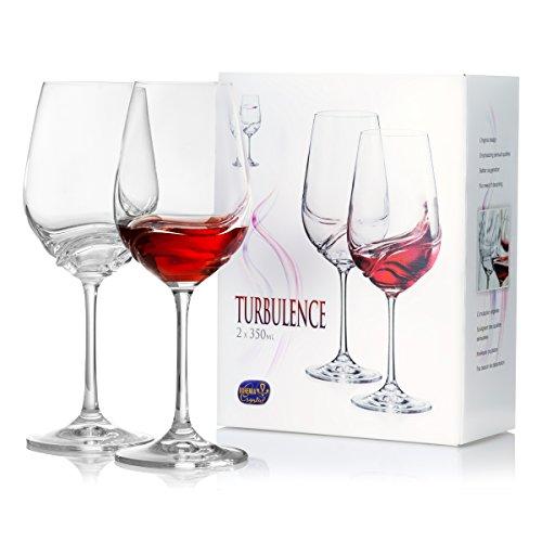 Red Bordeaux Wine Blends (Large Stem Red Wine Glasses Set of 2, Aerating, Bohemia Crystal Glassware for Bordeaux, Merlot Blends - European Quality, Luxury, 15 Ounces)