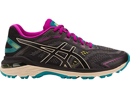 ASICS Women's GT-2000 7 Trail Running Shoes, 7M, Black/Feather Grey ()