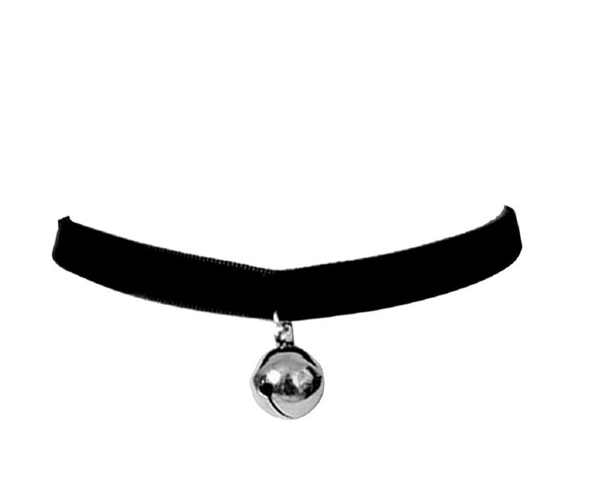 Cosplay Black Lolita Bell Choker Cat Gothic Collar Ziper AZ-001