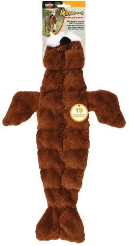 Ethical Pets Skinneeez Tons of Squeakers Walrus Dog Toy, 21-Inch -