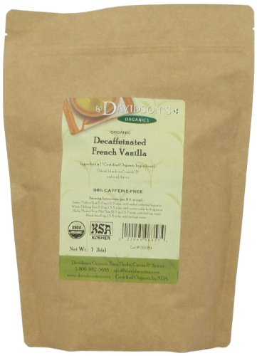 Davidson's Tea Bulk, Decaf. French Vanilla, 16-Ounce Bag
