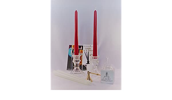 Luminescense Taper Velas y candeleros Set de Regalo: Amazon.es: Hogar