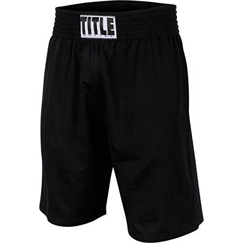 Title Boxing TITLE Training Shorts, Black, Medium