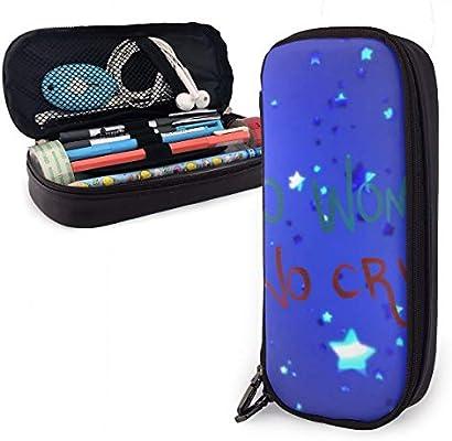 Estuche para lápices con purpurina azul para niños y niñas, tamaño grande, para estudiantes, colegios y oficinas: Amazon.es: Oficina y papelería