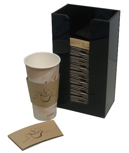 Coffee Cup Sleeve or Hot Cup Holder Tall Dispenser Organizer for Hot Drink Cups (3015) ()