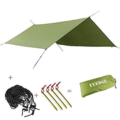 YUEDGE Portable Lightweight Water-resistant Rain Tarp Tent Tarp Shelter