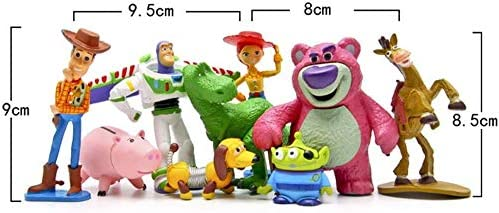 Pack of 9 Premium Toy Story Party Figurines Jessie Keychain Cartoon Action Figures Toy Story Party Favors PANTYSHA Toy Story Cake Toppers Birthday Party Supplies for Kids /& Grownups
