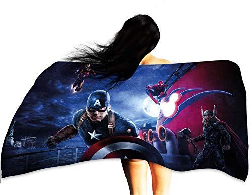 (Cowspring Microfiber Bath Towel Captain America Marvel Comics b1916 Multicolor)